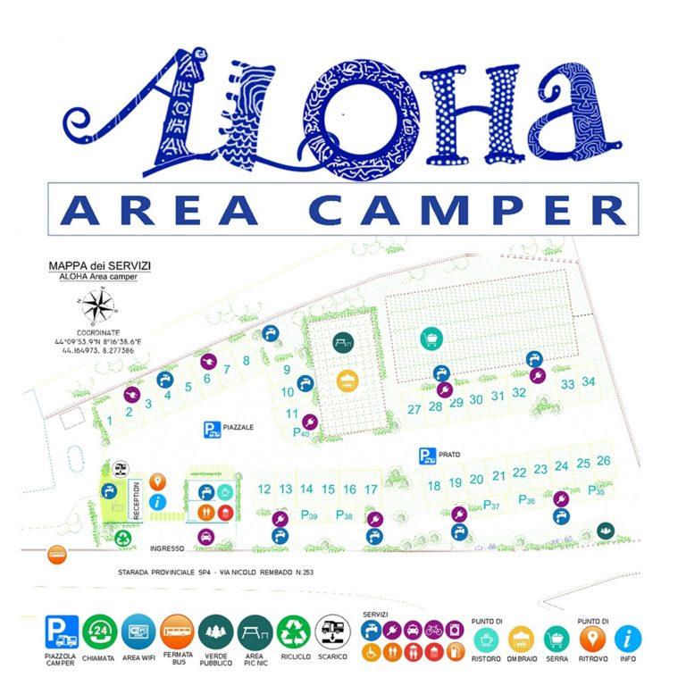 mappa AREA CAMPER ALHOA